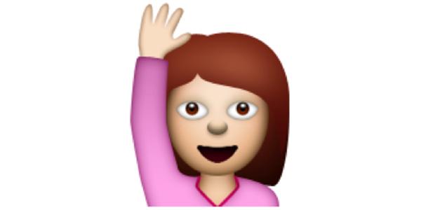 woman raising hand emoji elite daily 1?w=580 tv cue the groans